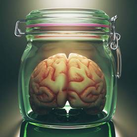 Brain in jar